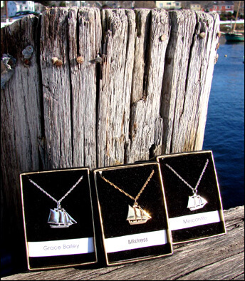 Maine Windjammer Cruises - 14k gold pendants